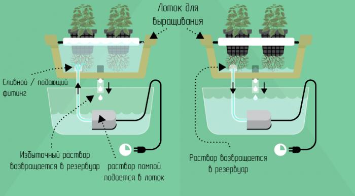 Система периодического затопления